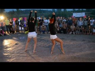 Ася Бабина и Ира Краснова - Dance Hall (видео танца с тыла)