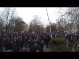 немирный митинг у Верховного совета Крыма (Симферополь)