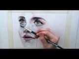 Как нарисовать лицо акварелью? (видео)