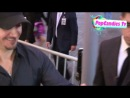 Jeremy Renner greets fans while departing Seven Psychopaths Premiere in Westwood