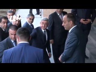 Президент Армении Серж Саргсян приехал на заседание РПА 11 апреля 2014 года