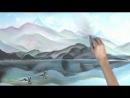 """картина: """"Пейзаж"""" нарисованный мелом. Art, art brut, арт брют, художник Aleksandr Alyonin 2012"""