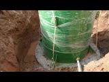 Монтаж кессона при высоком уровне грунтовых вод от