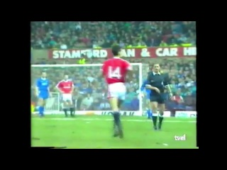 Debut ryan giggs con manchester united vs everton