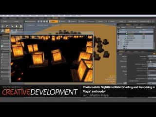 Создание фотореалистичной композиции с плавающими свечами в Maya и Modo. Урок 7