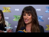 The X Factor: Lea Michele Talks Performing Her Own Music – Was She Nervous?