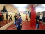 Тренировки по боксу в Симферополе. Отработка в парах (2)