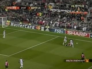 Лига Чемпионов 2004 05 Группа D 4 й тур Манчестер Юнайтед Англия Спарта Чехия 1 тайм