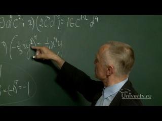 Математика. 7 класс. Урок 39. Умножение одночленов, возведение в натуральную степень.