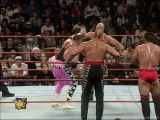 Hart Foundation (Bret Hart, Brian Pillman, Owen Hart, Jim Neidhart, British Bulldog) vs. Team WWF (Steve Austin, Ken Shamrock, H