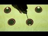 Показана техника эбру – древнего турецкого искусства, которое называют «танцем цвета на воде» (Ebru Art. American Islamic College)