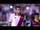Penalti sobre Trashorras y paradón de Víctor Valdés