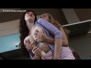 Anna song and friend lesbian kitchen fuck