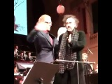 Тим Бёртон на концерте Дэнни Эльфмана в Праге