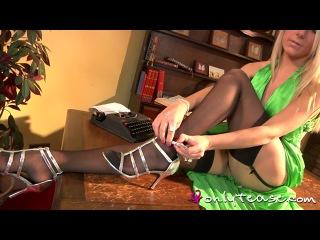 Becky r green satin dress