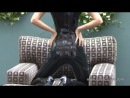 Lara Black Latex Sleeveless Catsuit 1