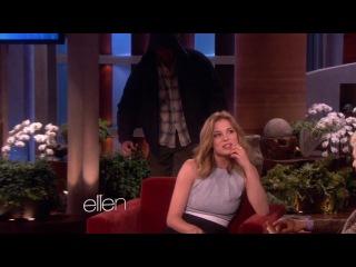 Emily VanCamp Gets Scared on Ellen show!