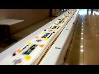 Торт рекордсмен..вес 700 кг, длина 90 м 54 см.....г.Новосибирск (Sun City)