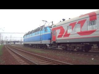 чс4-50 с поездом №15 Москва-Ужгород (Будапешт) на ст. Киев-Московский