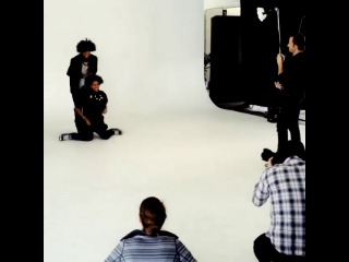 Les twins for french vogue shooting (instagram)
