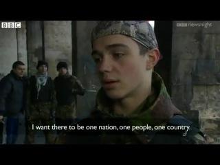 Телеканал BBC снял сюжет о нацистских боевиках в Киеве