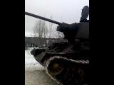 Танк на реконструкции освобождения Ленинграда от блокады