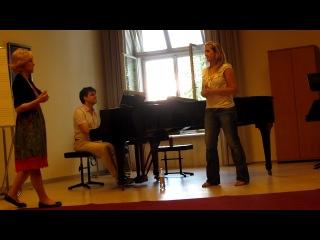 Урок . Джудита. Поет Анжелика(Австрия)-постоянная студенка Моцартеума