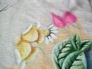 Pintura em tecido Rosas parte 3