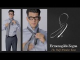 Как завязать галстук Полувиндзорским узлом
