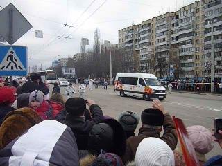 Олимпийский огонь- ул. Губкина/ул. Щорса