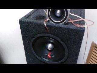 Dragster DMX 8.1 в полную полосу Dragster DTX 204 через кондёр