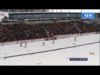 Александр Легков выиграл марафон в 50 км на этапе Кубка мира в Холменколлене