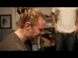Sons of Anarchy Ryan Hurst shaves his beard Charlie Hunnam Mark Boone Junior cry with ryan
