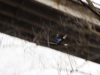Прыжок с моста Елены Янченко (вид с низу)