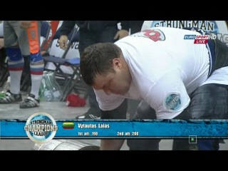 Strongman Champions League 2012 Log Lift World Championship 2012 Lithuania Savickas Classic