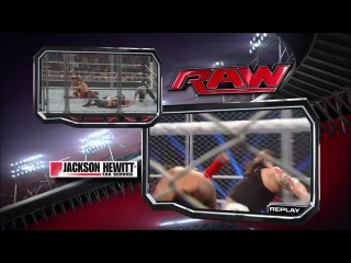 WWE Monday Night RAW 13.01.2014 The Usos vs. Bray Wyatt & Daniel Bryan - Tag Team Cage Match