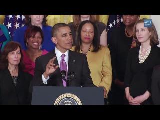 Барак Обама поет песню Get Lucky