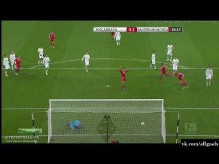 Чемпионат Германии. Боруссия М 0-2 Бавария. Гол Мюллер. 24-01-14