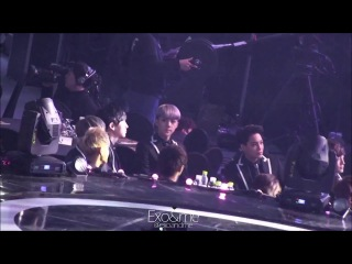 [FANCAM] 140123 EXO watching A Pink @ 23rd Seoul Music Awards
