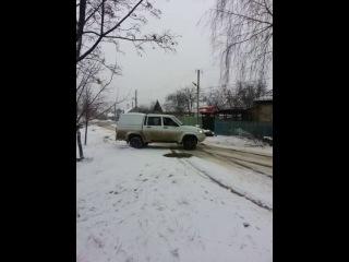 легкий дрифт на УАЗе))