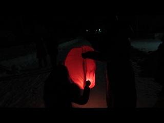 новогодний фонарик в Нижнеягодном