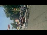 Загорелся жигуль на светофоре. Крывой Рог .соц город.