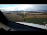 Красивое видео с посадкой Боинга 737 в Калининграде, снято прямо из кабины пилотов