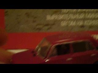 Авто Легенды СССР №123 ВАЗ 21011 бежевый Сравнение перекрасс в Вишнёвый