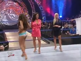 WWE No Way Out 2005: Smackdown Rookie Diva Bikini Contest