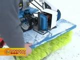 очистить снег при помощи мотоблока Нева