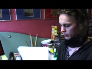 Ville Editing The HIM Tears On Tape Metal Hammer Fanpack Magazine_2013