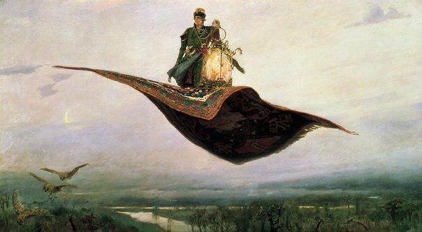 Виктор Михайлович Васнецов (1848-1926). Ковёр-самолёт (1880)
