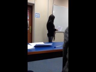 Алёна Пискун сдаёт зачёт)) СЛУШАТЬ ВСЕМ!!!