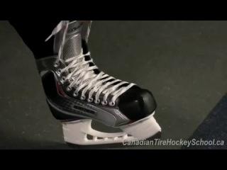 Как завязать шнурки на коньках